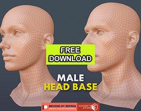 3D model Character - Female Male Head Base Mesh 1