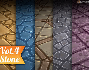 3D model Stylized Stone Vol 04 - Hand Painted Texture