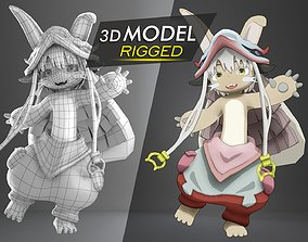 Rigged Nanachi Made in Abyss 3D asset