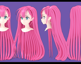 mafuyu Kirisu hairstyle 3D
