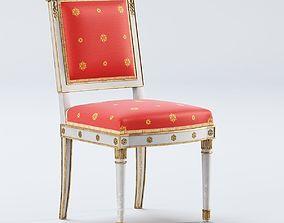 Antique Empire chair XIX 3D model