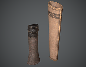 3D model low-poly Quiver Medieval