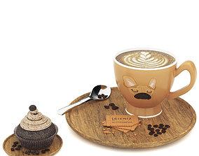 cofee set 3D asset