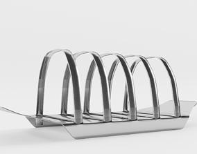 Vintage 1960s Toast Rack 3D model