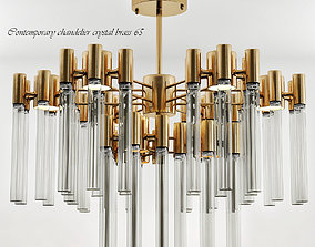 3D model Contemporary chandelier crystal brass 65