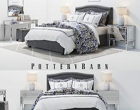Pottery Barn Tamsen Grey Bedroom set 3D