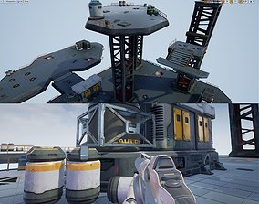 3D asset Modular Sci-Fi Space Base Location and Props - 2