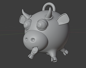 3D printable model Funny Cow Christmas tree toy 2021