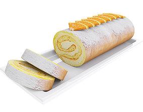 3D Orange roll