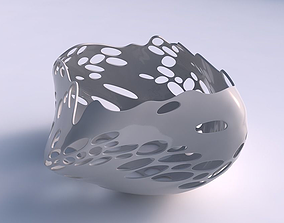 Bowl helix with bubbles 3D printable model