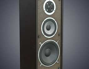 3D asset Audio speaker retro