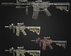 3D asset M4 Carbine Assault Rifle with Tactical 2