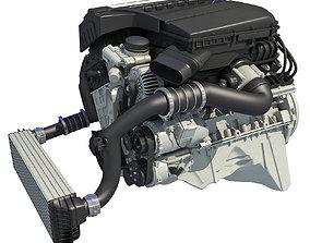 3D model Turbo Straight Six-cylinder Petrol Engine