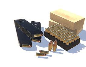 3D asset 9mm Ammo Pack