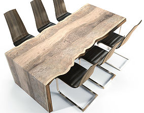 3D model Massive wooden table