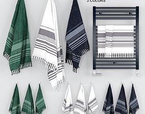 Scandinavian Towels Set 3D
