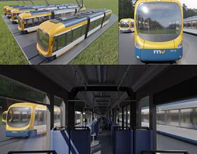 RNV 8 Tram Set 3D model low-poly