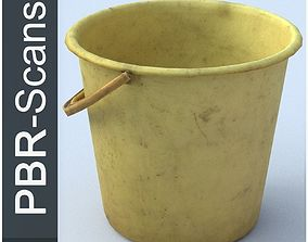 Bucket Low Poly 3D model realtime