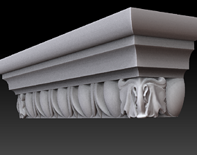 3D print model capitel pilaster