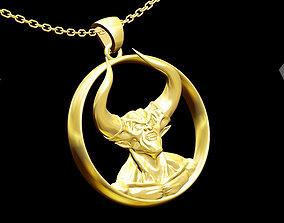 Darkness Angel Pendant jewelry Gold 3D print model