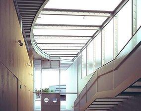 3D Spacious Light Hall