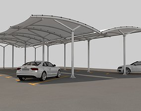 parking Open Car Parking Tent 3D
