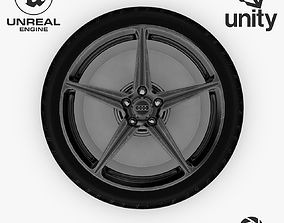 3D model Wheel Steel-Chrome Dark Alloy Rim Audi 19 3