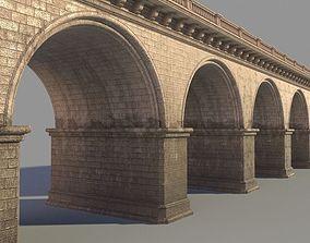 3D model Arched stone bridge architecture
