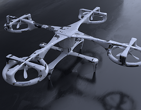Drone 3D Model game-ready drone