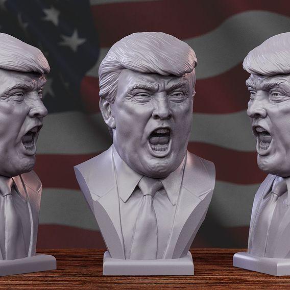 Angry Donald Trump