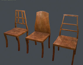 Chair Pack low poly game ready 3D asset