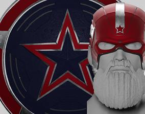 3D print model Red Guardiam MCU Helmet and Shield