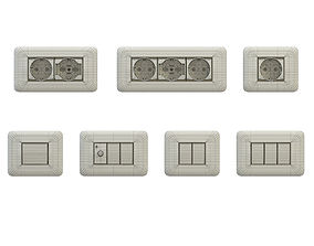 Sockets and switches 3D model