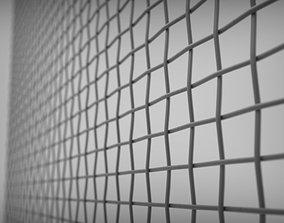 3D model tileable mesh grid pattern
