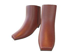 3D model Square Toe Short Boots v1 004