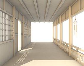 3D asset Japanese Corridor - Hallway