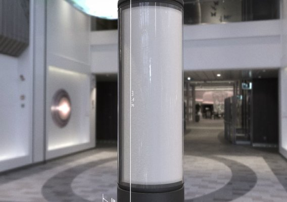 Advertising Pillar with Glass Version 3 (Blender-2.93 Eevee)