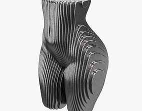 3D Figurine in the shape of a body made of metal plates 1