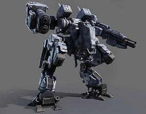 3D model Battle Robot Tank 2