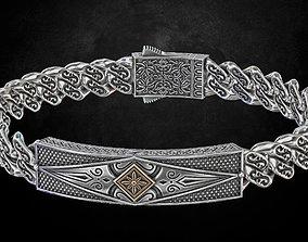 Bracelet with patterns antique bracelet 3D printable model