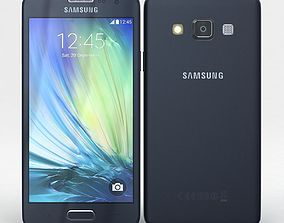 3D model Samsung Galaxy A3 and A3 Duos Black