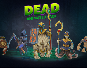 Dead animated pack 3D model