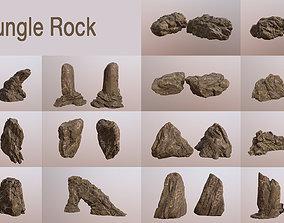 3D Jungle rock collection