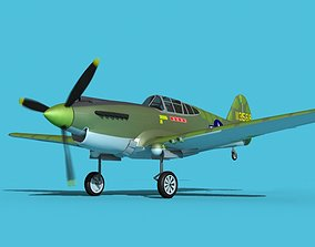 Curtiss P-40B Warhawk V12 USAAF 3D