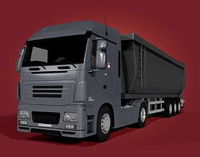 3D model Tipping Trailer - Transfer Dump - Heavy Truck