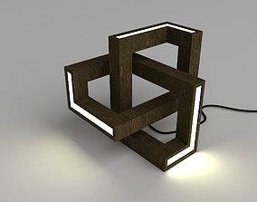 3D model Parametric curly lamp