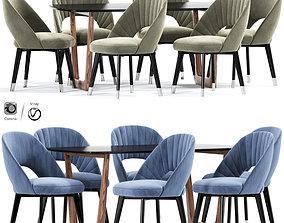 Baxter Colette Strip Dining Chair 3D