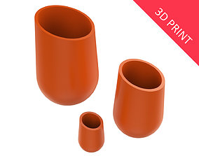 3D print model Vase for Plant 08 with 3 Different Sizes