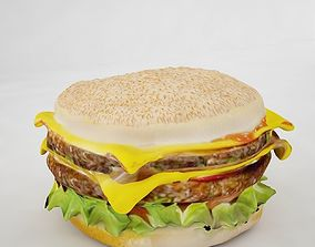 3D model Double Cheeseburger