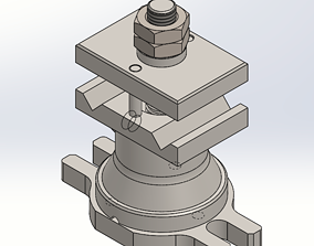 Pneumatic Clamp 3D model
